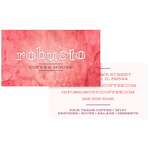 Coffee House Business Card Template