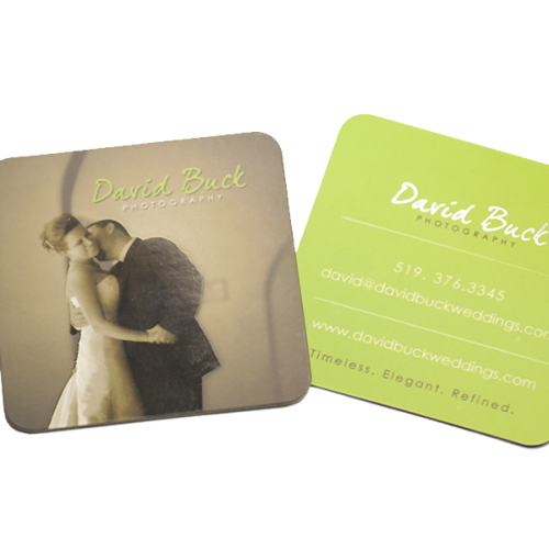 David Buck Photography business card design