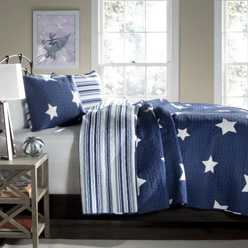 Lush Decor Star 3-piece Quilt Set