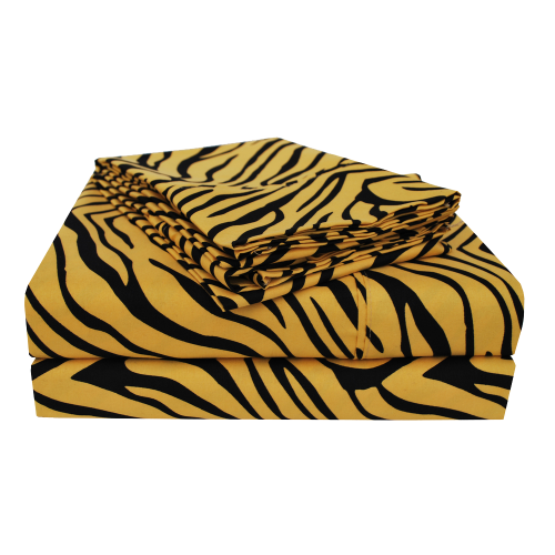 Wrinkle-resistant Animal Print Sheet Set and Pillowcase Separates
