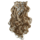 Full Head Hairpiece Wavy Curled