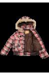 Brown Girls Plaid Winter Jacket