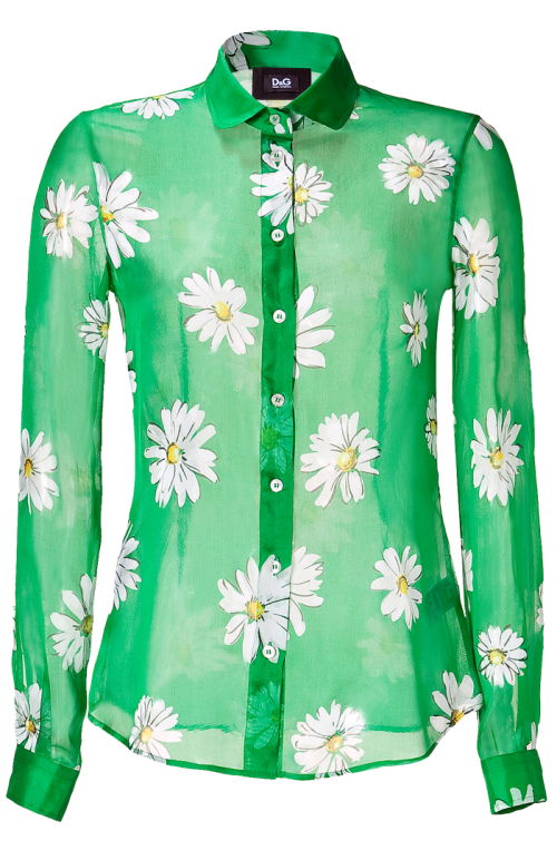 D&G Printed Silk Shirt
