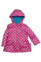 Girl's Pink Printed Frost Hoodie Jacket