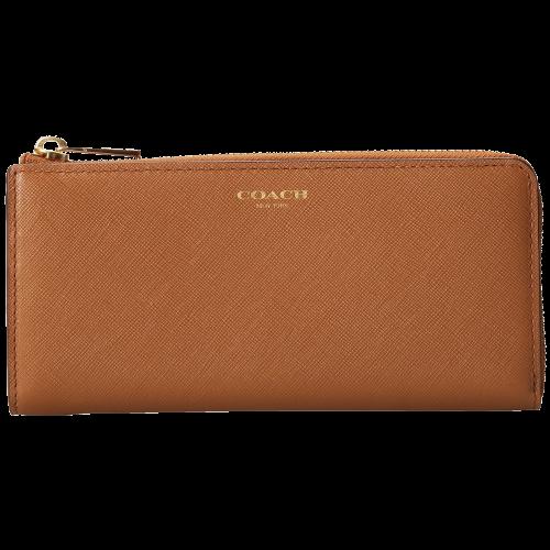 COACH Saffiano Leather Slim Zip