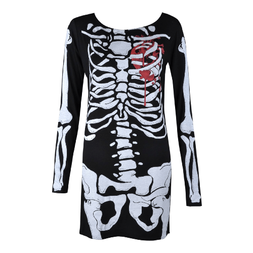 Halloween Skeleton Skull Bone Girls Dress
