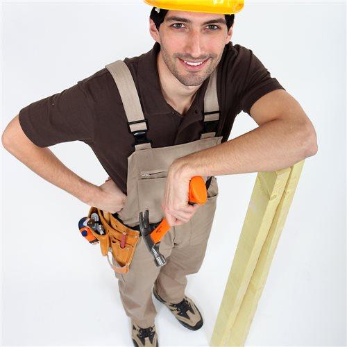 Builder working