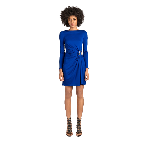 Side Ruched Jersey Dress