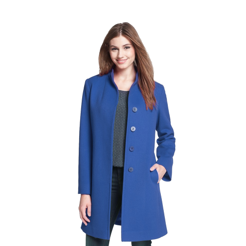 Stand Collar Wool Coat