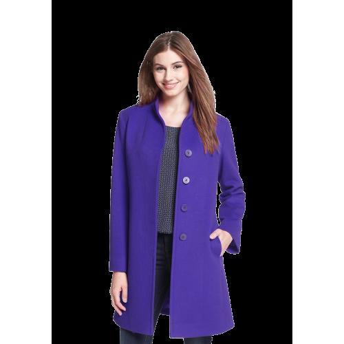 Stand Collar Wool Coat