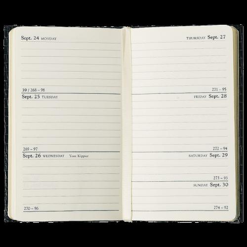 2012 Crocodile-Embossed Pocket Diary