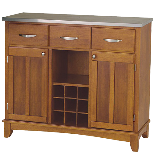 Home Styles Large Wood Server Kitchen Island
