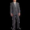 Men's Nathan Gray Pinstripe Two-Button Trim-Fit Suit