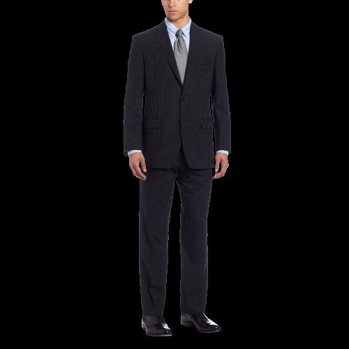 Men's Mini Black Pinstripe Slim-Fit Suit