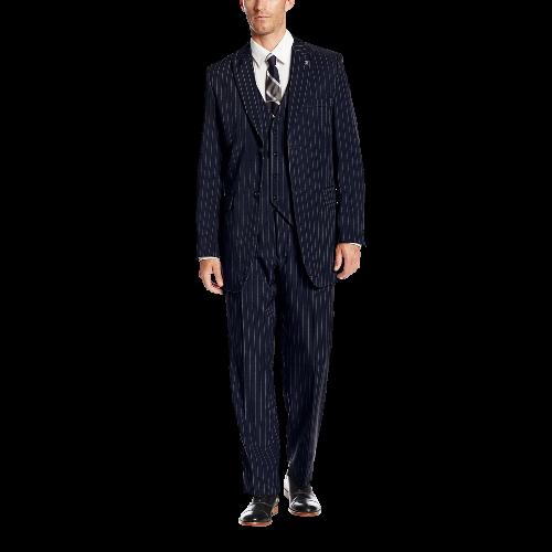 Men's Big Tall-Mars Vested 3 Piece Suit