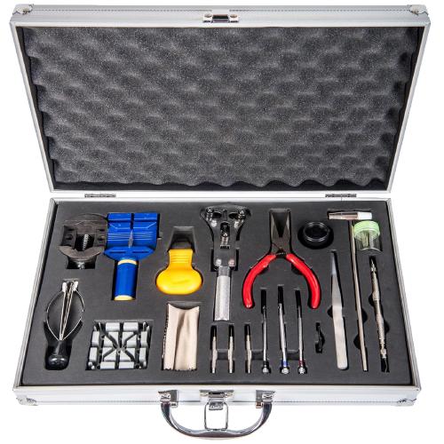 Watch Repair Kit with Reusable Aluminum Box
