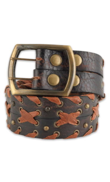 Double Wide Whip Stitch Belt