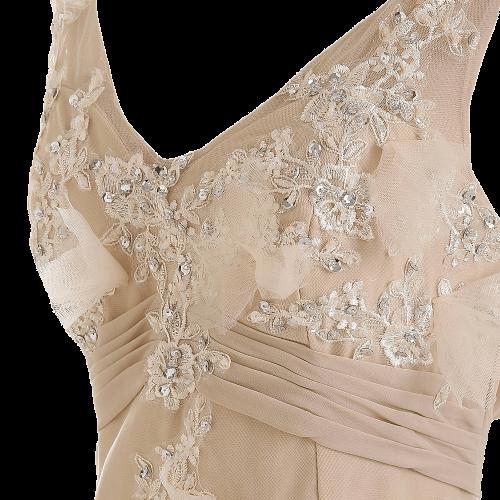 Champagne Mermaid Wedding Dresses