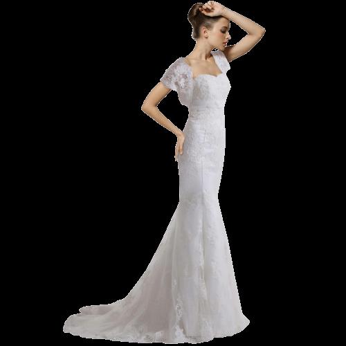 Luxury vintage capped  wedding dress