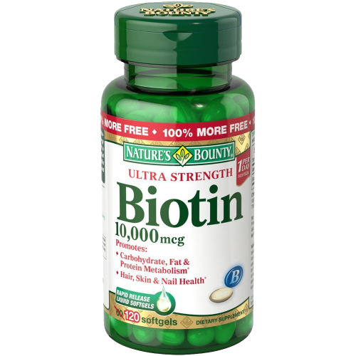 Nature's Bounty Biotin 10,000 MCG Softgels