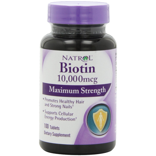 Natrol Biotin 10,000 mcg Maximum Strength Tablets