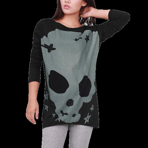 Long Sleeve Skull Casual Pullover