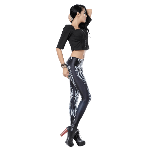 Stretch Footless Fashion Leggings