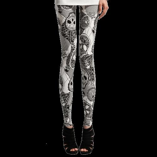 Skull Print Bodycon Women Leggings