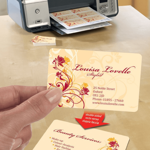 Double Sided Laser Rounded Corner Business Cards