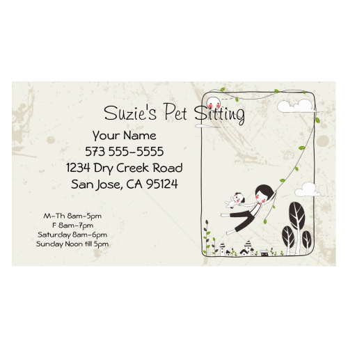 Pet Sitting Service Business Card