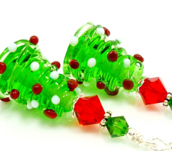 Christmas Tree Earrings 1