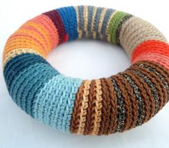 Crochet bangle - Colorful bracelet 1