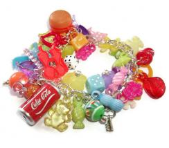 Gumball Charm Bracelet, Kawaii Kitsch Beaded Bracelet 1
