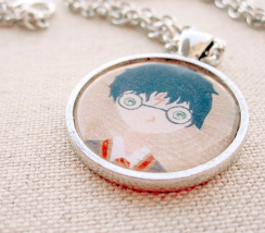 Harry potter mini painting pendant necklace 1