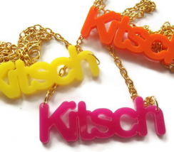 Kitsch Necklace, Neon Laser Cut, Choice of 3 Colors 1