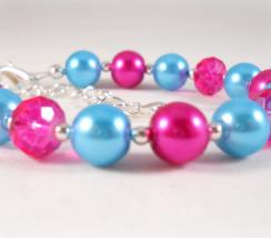 Little Girls Bracelet Pink and Blue 1