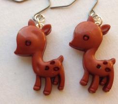 Plastic Deer Earrings 1