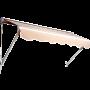 Cream Luxury 6ft Door Window Awning Drop Arm Door Shelter Sun Shade Canopy _2