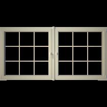 Eurowindows Group 96-12-in x 48-in Tilt and Turn Series 2-Lite Vinyl Double Pane Replacement Casement Window_1