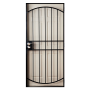 Gatehouse 36-in x 81-in Gibraltar Black Steel Security Door_1