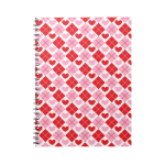Red and Pink Diamonds & Hearts Spiral Note Books 1