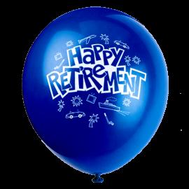 Happy Retirement 1'' Latex Balloons 1 copy