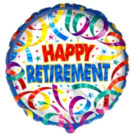 Retirement Streamers Foil Balloon 1 copy