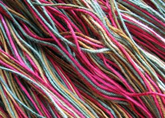 Dyed Bamboo Yarn Closeup 1