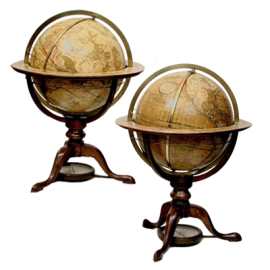 Pair of 12-Inch Globes by Dudley Adams 1