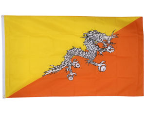 Bhutan 3ft x 5ft Nylon Flag 1