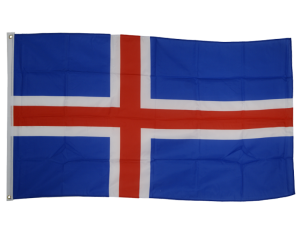 Iceland 3ft x 5ft Nylon Flag 1