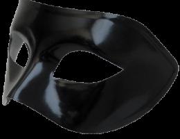 Black V Venetian Mask Mardi Masquerade Halloween Costume 1