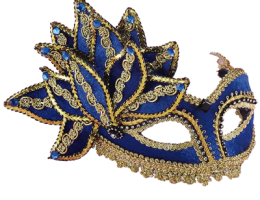 Blue With Gold Mask 1