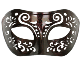 Dream Tale Black Venetian Masquerade Mask 2